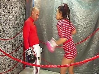 Man Vs Women Boxing Belly Punching Match 18 Yo Female Vs Man Intergender