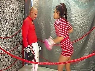 Man Vs Women Boxing Belly Punching Match 18 Yo Female Vs Man Intergender