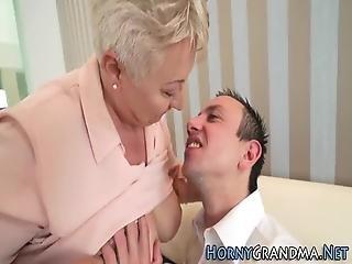 Fat Grandma Gets Drilled