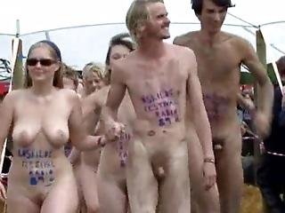 Roskilde Festival Naked Run With Some Nice Tits For Once