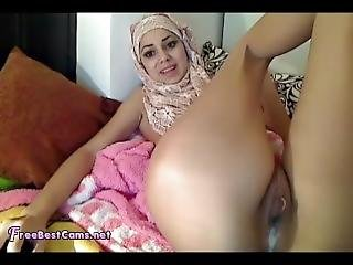 Real Muslim Arab Hijab Creamy Squirting Orgasm On Webcam