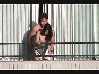 Couple Fucks On Hotel Balcony
