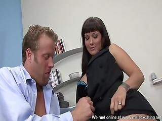 Hot Busty Business Woman From Milfsexdating Net Got Fucked