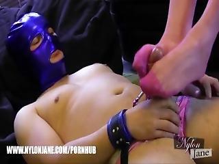 Milf Lets Nylon Panties Wearing Sissy Wank Big Cock Cum On Stockings Feet