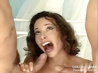 anal, pipe, brunette, éjaculation, double pénétration, hardcore, pénetration, trio