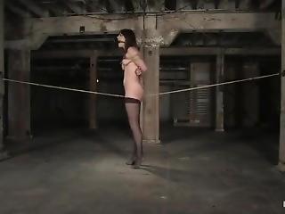 Beautiful Slut Bobbi Bondage And Her Pussy Rubbing On A Rope