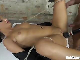 Euro Teen Covered With Maledoms Jizz