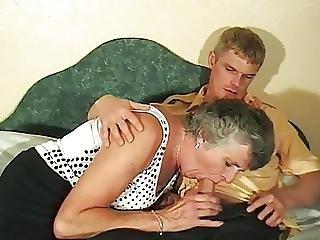 British Granny Gets A Good Young Ride