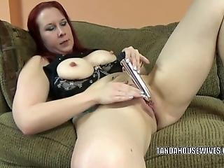 Mature Redhead Lia Shayde Takes Off Her Little Skirt And Uses A Toy To Make Herself Cum