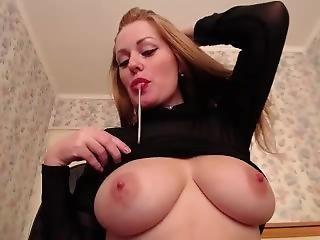 Hot Lactating Redhead Milk Squeeze