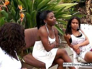 White Slaves Making Black Dominatrix Wet