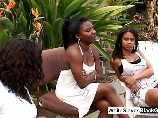 White Slaves Making Black Dominatrix Wet