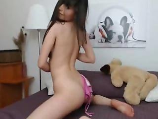 Sexy Brunette Striptease Long Hair Hair