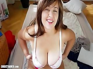 Big Sticky Mom Tits Milf Cleavage Creampie. Cum On Boobs Titfucking Homemade