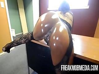 Armani Sticky S Big Black Booty Gets Drilled By Bbc