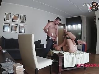 thuis, thuis gemaakt, straffen, ruw, sexy, gluurder