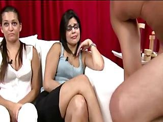 Naked Guy Gets A Hand Job From Cfnm Babe In Reality Groupsex