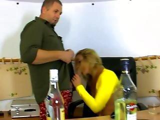 Hot Secretary Gets Drunk On The Job