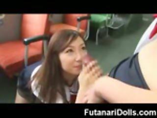 Babe Sucks A Futanari!