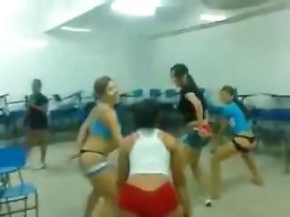 Twerking After School, Then The Shorts Start Going Down