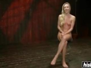 BDSM pleasures for a submissive blonde