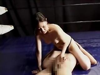 Asian Mixed Wrestling Femdom Sex Fixed Audio