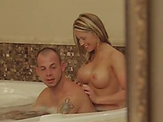 Incredible Blonde Having A Proper Cock Ride In The Bathroom