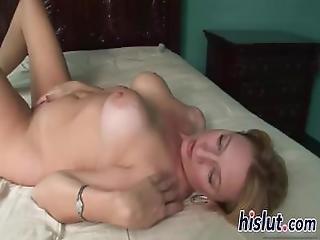 Raunchy Blonde Bitch Drills Her Juicy Snatch