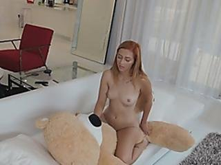 Wonderful Redhead Got Her Amazing Little Hole Stretched
