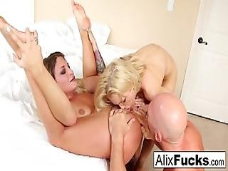 Hot 3-way With Alix Lynx Kissa Sins And Johnny Sins