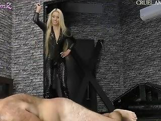 Mistress Ariel Whipping Her Pathetic Slave