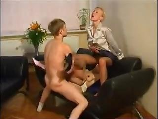 Ethel Russian Short Haired Milf In A Threesome