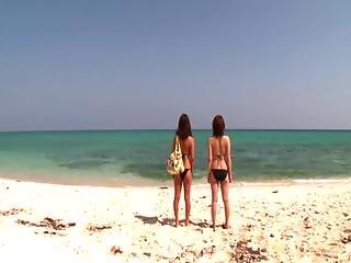 Rin Kajika And Karina Hatsumi At The Beach
