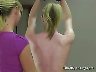 Bitch Slaves Get Spanked And Whipped
