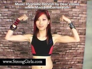 Asian Girl Flexing