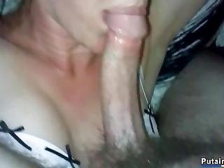 French Milf Sucks Cock And Fucked Blindfolded