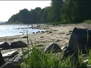Hot Stud Fucking On The Beach