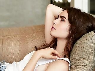 Lily Collins Jerk Off To The Beat Challenge