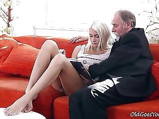 Blonde Teen Tanya Surprised By The Old Mans Sexual Strength