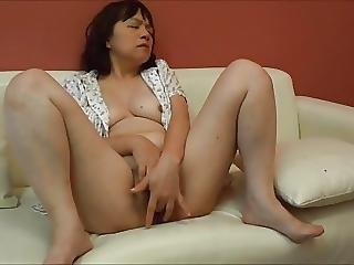 Amateur, Brunette, Fingering, Horny, Japanese, Masturbation, Milf, Sofa Sex