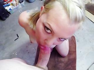 Bambijean Sucking A Cock And Swallowing Cum While Handcuffed