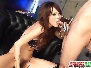 Rukia Mochizuki enjoys toys deep in her furry