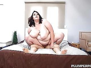 Chubby Big Belly Mom Fucks Sons Friend
