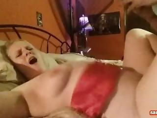 Sexy Busty Horny Blonde Sucks, Rides, Gets Fucked And Swallows Hot Cum
