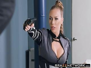 Busty Nicole Aniston Jumps And Rides On Thick Long Sword
