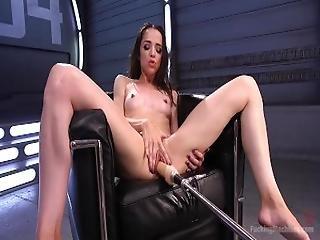 brunette, levrette, nique, masturbation, orgasme, solo, vibrateur