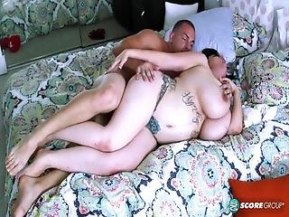 Big Breasted Chubby Girl Takes Care Of Big Dick