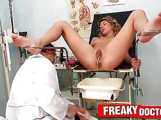 Curly Blonde Babe Kristy Lust Gyno Clinic Exam