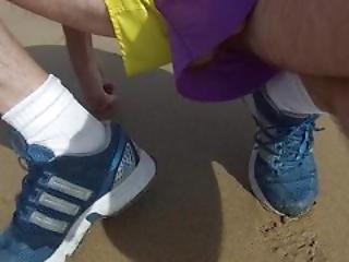 Nylon Satin Adidas Shorts Cock Feels The Sea Breeze