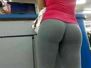 Sexy Girl In Very Tight Yoga Pants